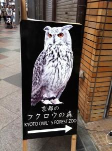 京都のフクロウの森(看板)画像