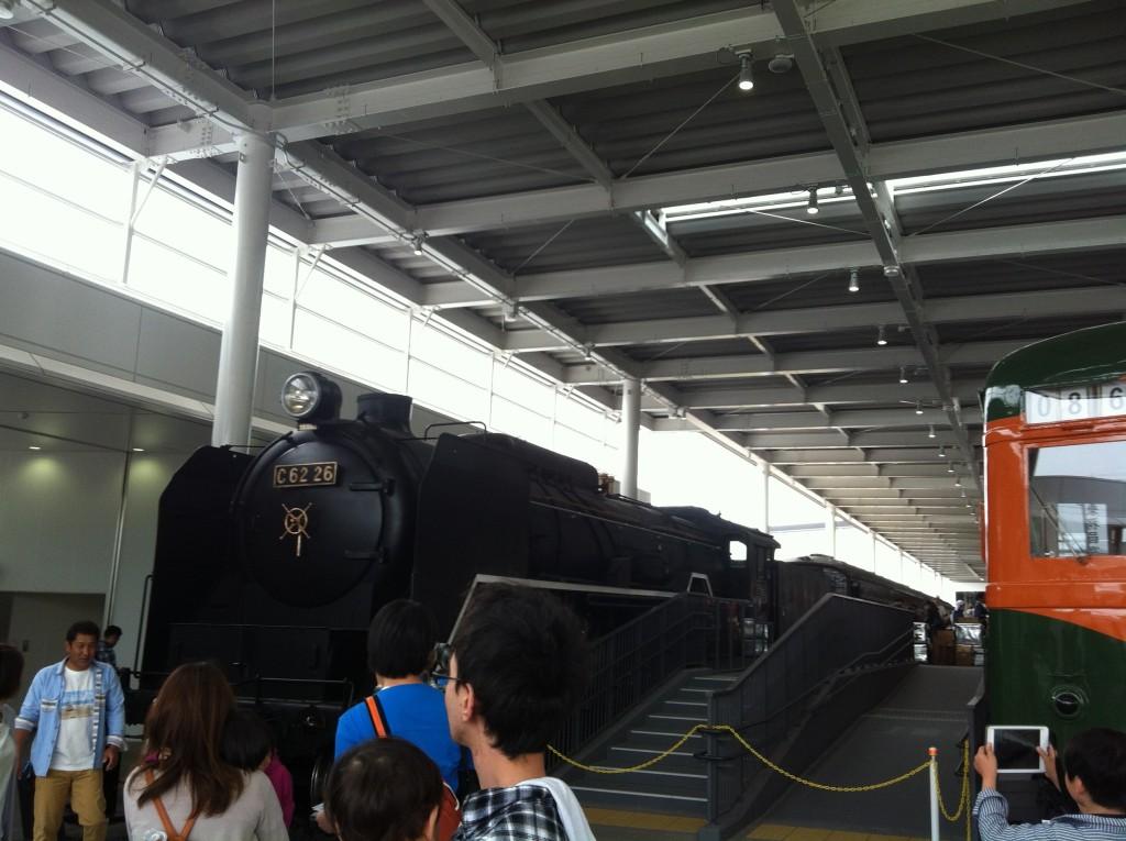京都鉄道博物館 入場後 SL蒸気機関車
