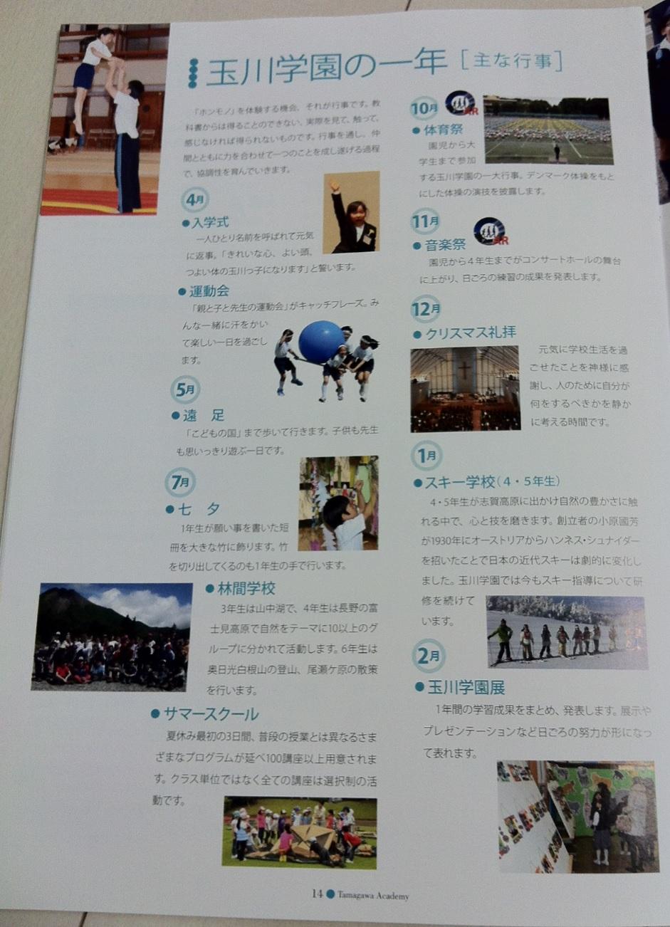玉川学園小学校の学校案内パンフレット画像キャプチャ(ページ14)