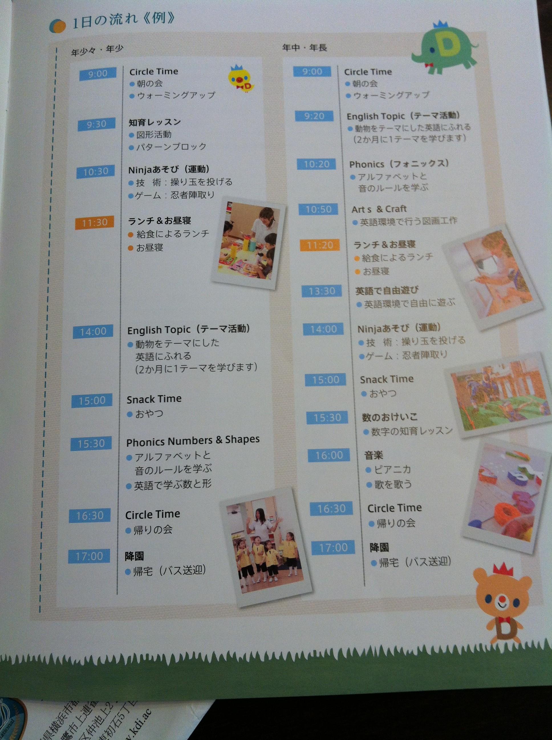 キッズデュオ(kids duo)の説明会で配られたパンフレット18ページ目の画像キャプチャ
