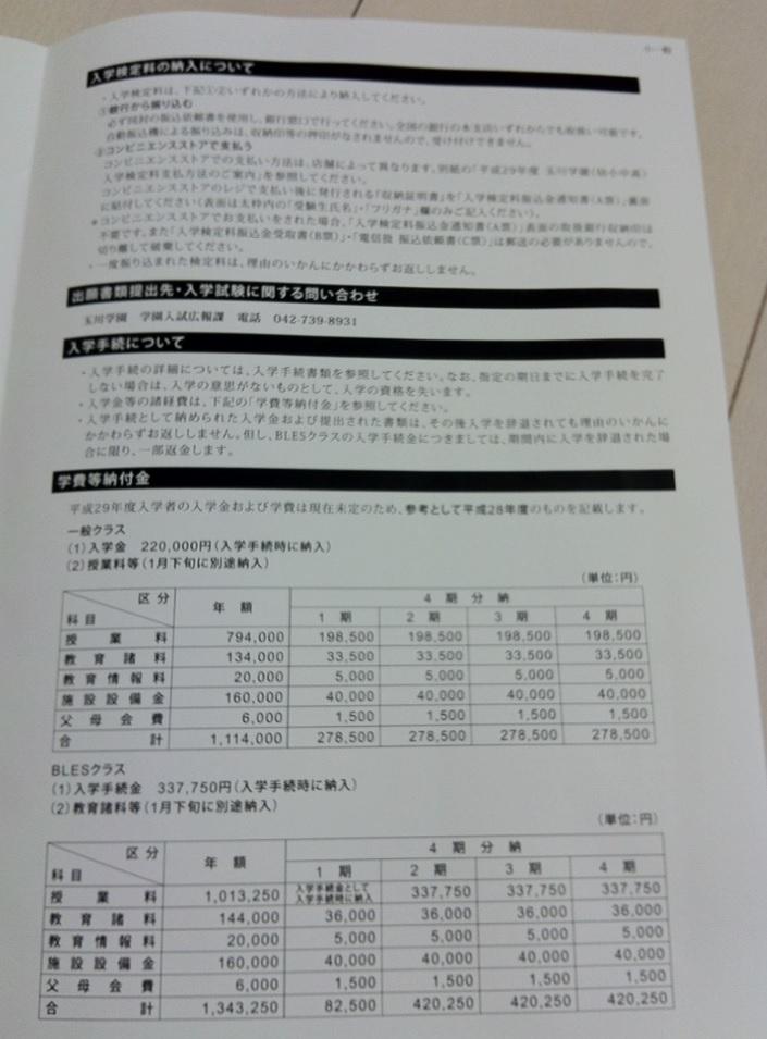 玉川学園小学校の入試要項画像キャプチャ(ページ3)