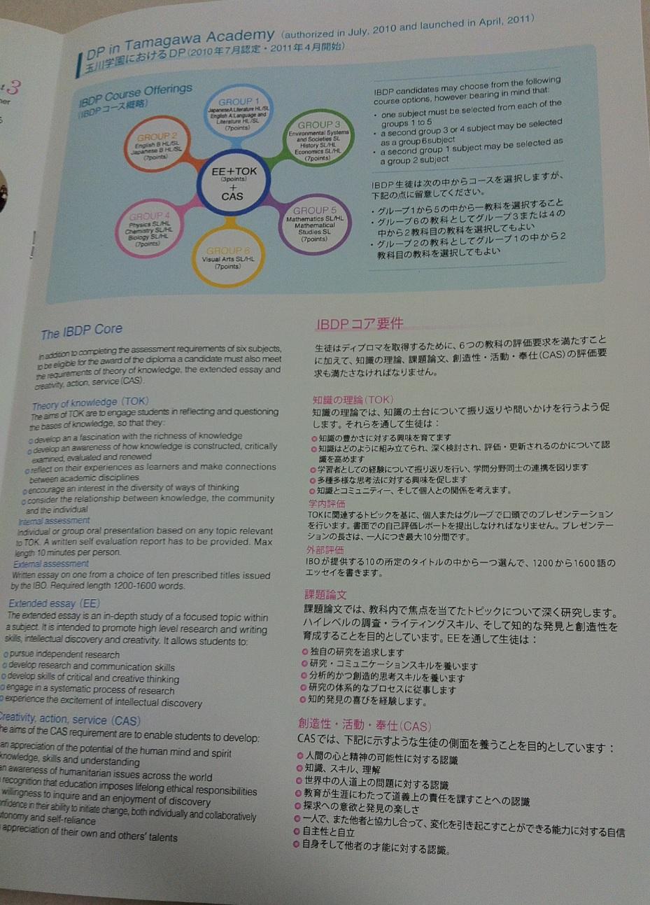 玉川学園小学校のIBプログラム画像キャプチャ(ページ4)