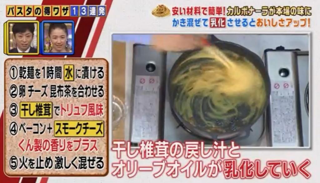 干しシイタケの戻し汁とオリーブオイルの乳化画像