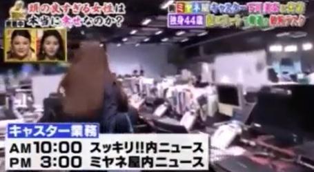 下川アナのキャスター業務画像