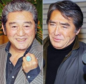 松方弘樹さんと目黒祐樹さん兄弟を並べた画像キャプチャ(写真)