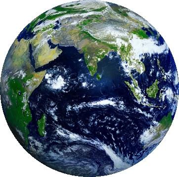 一生懸命探しても、針の穴ほどの点にしかならなかった地球の画像イメージ