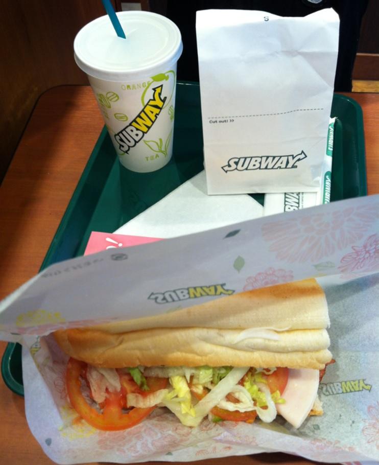 サブウェイのターキーベーコンエッグサンドイッチ画像キャプチャ