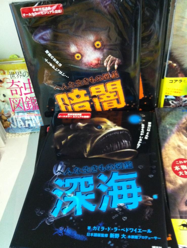 国立科学博物館のお土産屋さん~深海生物の本の画像