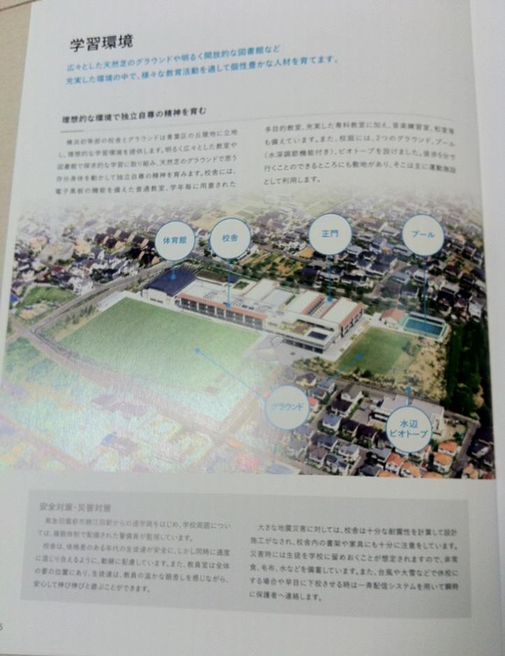 慶應義塾横浜初等部のパンフレット(13ページ目)の画像