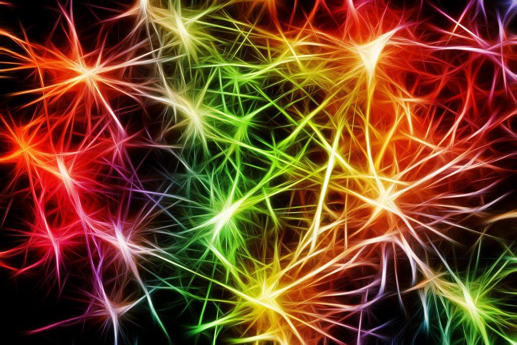 脳の神経物質をスパークさせて光り輝く能力を開発するイメージ画像