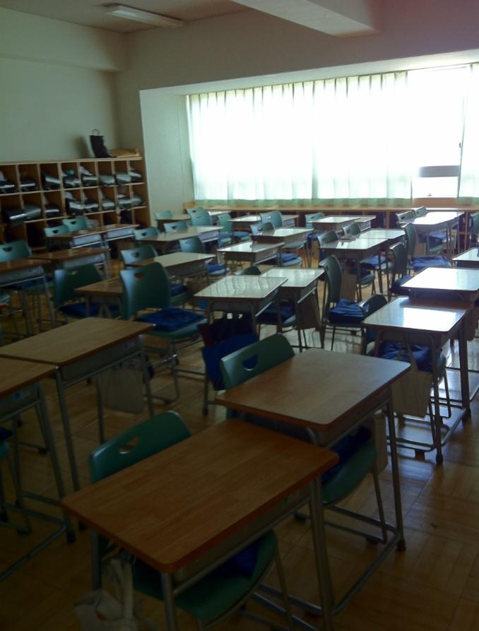 精華小学校の教室内の画像