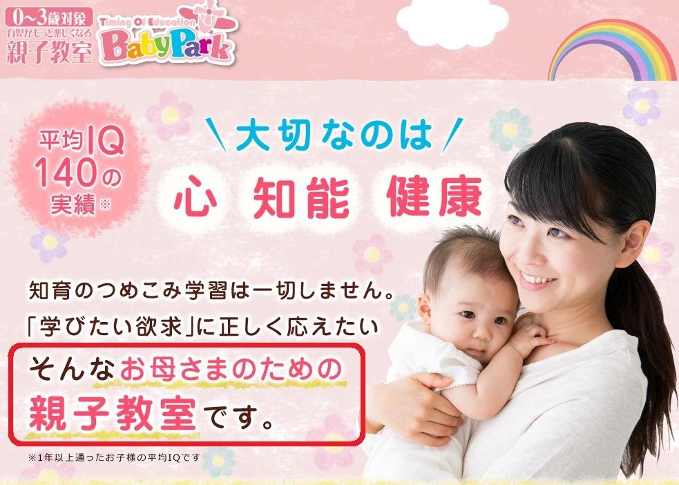 ベビーパークはママのための親子教室であるという画像