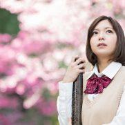 女子高生の卒業写真