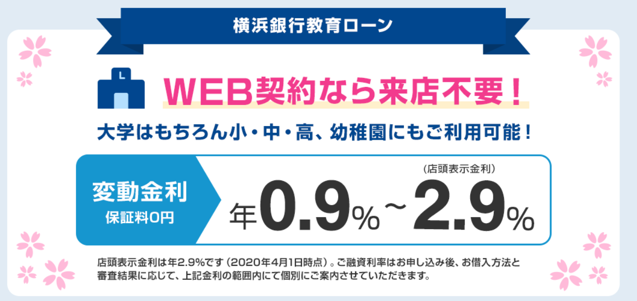 横浜銀行の教育ローン