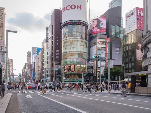 東京 銀座の街並み