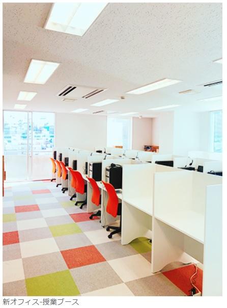 Nettyの新オフィス 授業ブース