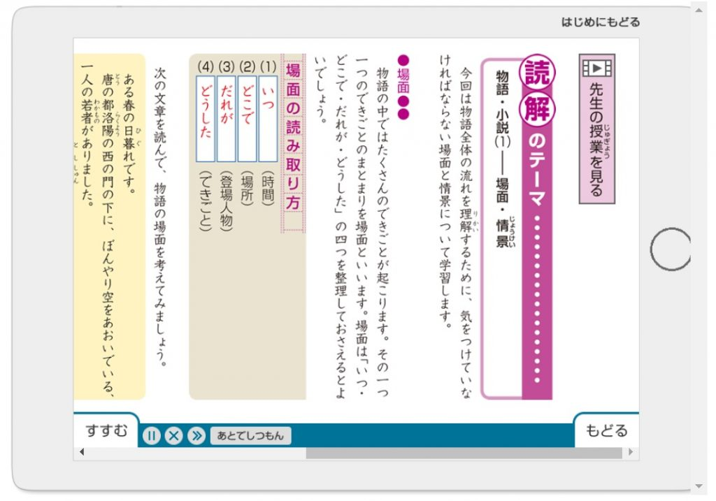 Z会中学受験コース 5年生 体験サイト 国語 文字形式で読む