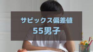 サピックス偏差値55の男子中学受験生