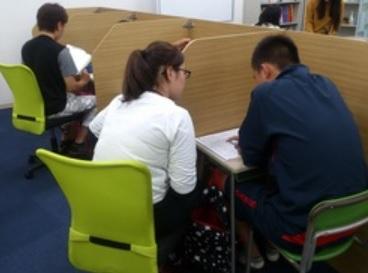 オンライン家庭教師WAMのバイト 個別指導塾の指導風景