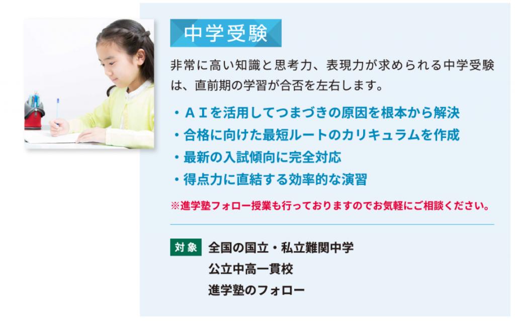 オンライン家庭教師Wamの中学受験対策