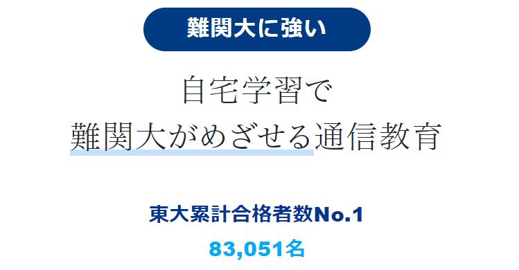 Z会 大学受験生向けコース 東大合格者数累計No1  2021年9月8日